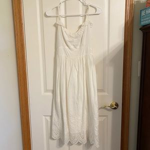 NEW Abercrombie & Fitch 100% Cotton White Dress